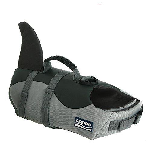 Chihuahua Swimming Costume (Besplore Dog Life Jacket,Shark Adjustable Safety)