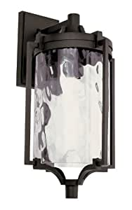 Trans Globe 40130 RT Coastal Sea - One Light Outdoor Wall Mount, Rust Finish with Clear Water Glass