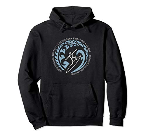 California Surfing Hoodie Top For Surf Lovers & Fans ()