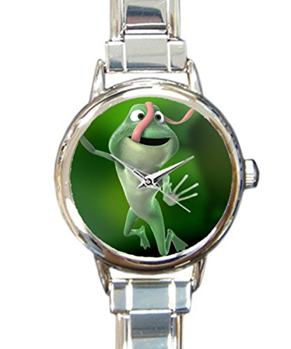 (Coolstuffs Tree Frog Women Ladies Italian Charm Bracelet Wrist Watch Analog Quartz Classic Watch)