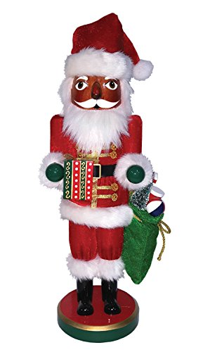 Santa's Workshop 70970 African American Gift Bearing Santa Nutcracker 16