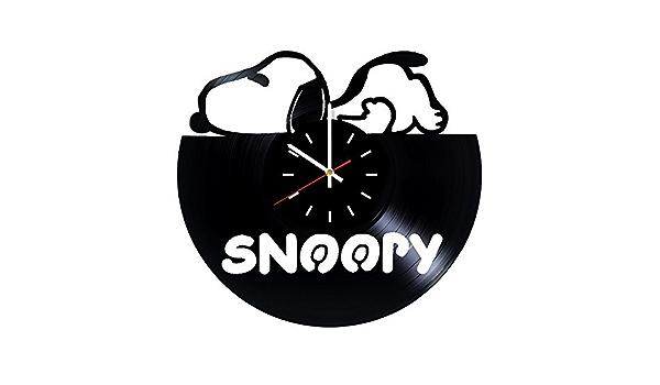 Geburtstag Kinderzimmer Einweihungsgeschenk Urlaub Snoopy Schallplatten-Wanduhr f/ür Schlafzimmer Geschenk f/ür Kinder Weihnachten Wohnzimmer Jungen oder M/ädchen