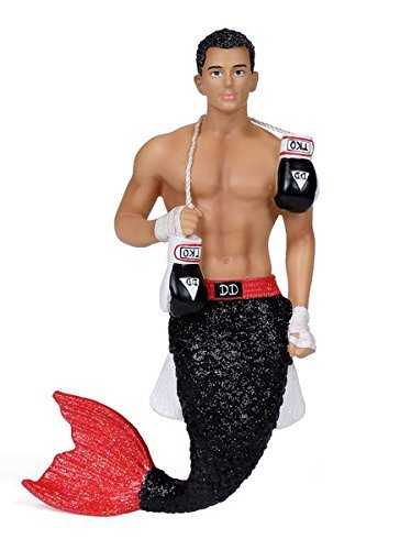 December Diamonds TKO Merman W/ Boxing Gloves Christmas Ornament DD55-55040