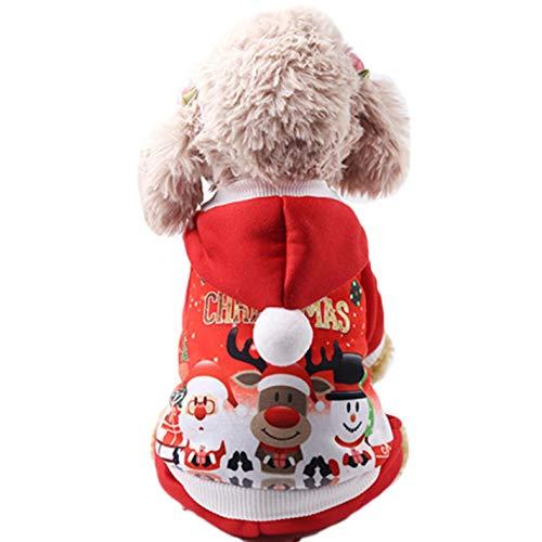 NGGERT Christmas Pet Costume Santa Claus Costume Winter Cotton Clothes