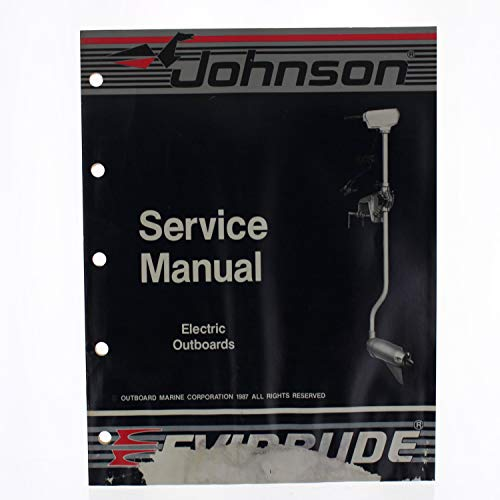 OMC Johnson Evinrude OEM Service Manual Electric Outboards 1988, 507658