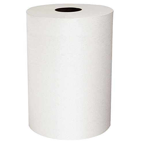 Scott Slimroll Hard Roll Paper Towels (12388) with Fast-Drying Absorbency Pockets, White, 6 Rolls/Case, 580'/Roll - Absorbency Case
