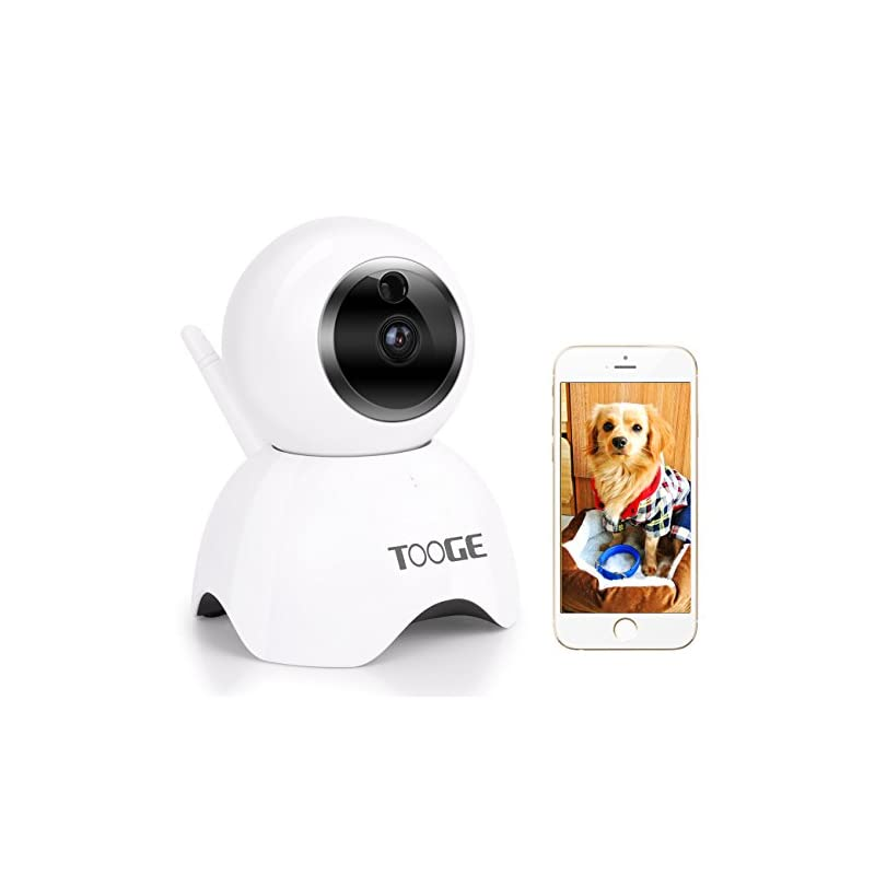 dog supplies online tooge pet dog camera wireless home security camera fhd wifi indoor camera pet monitor cat camera night vision 2 way audio and motion detection
