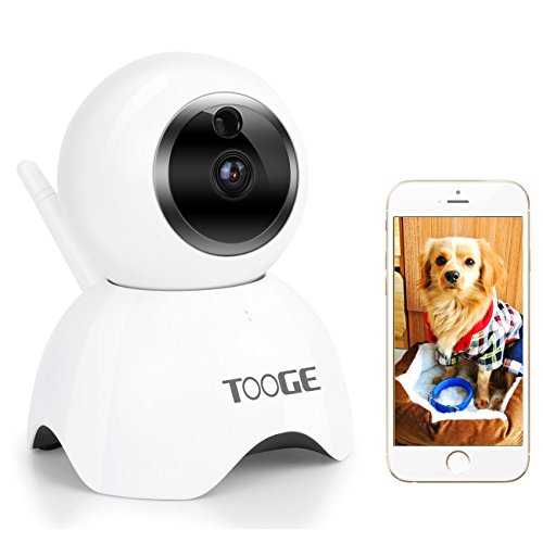 TOOGE Pet Camera, Dog Camera FHD Pet Monitor Indoor Cat Camera Night Vision 2 Way Audio and Motion - Pet Chat Video