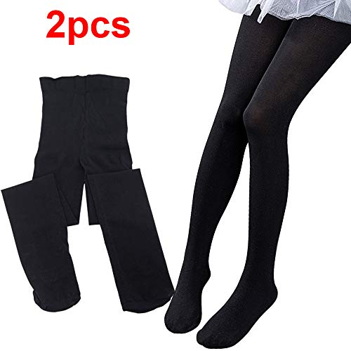 Sealive 2 Pairs School Girls Footed Ballet Dance Tights Velvet Stockings Pantyhose -