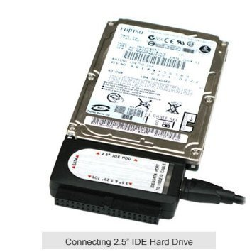 Ophion USB 2.0 TO SATA/IDE 2.5/3.5/5.25-INCH Hard Disk Drive With Power Supply Supports by Ophion (Image #3)