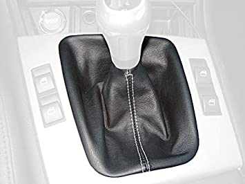 BLACK STITCH REAL BLACK LEATHER MANUAL SHIFT BOOT FITS TOYOTA CELICA 1999-2005