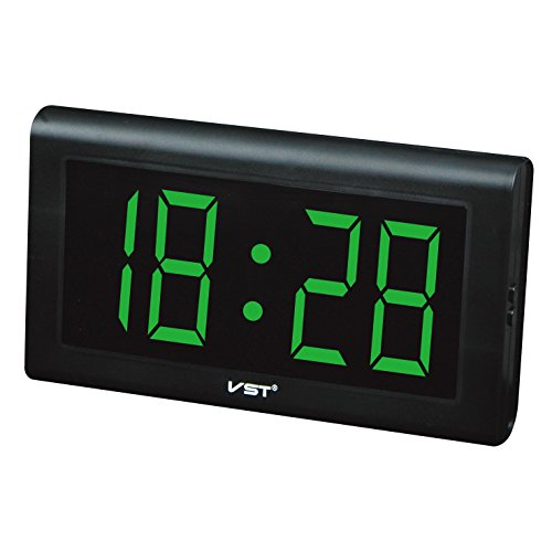 Electronic Led Digital Desk Clocks Wall Decorative Extra Large 4'' LED Numbers Display,Only time function,Military Time by Elong