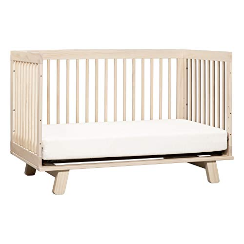 41DJ0HDzTHL - Babyletto Hudson 3-in-1 Convertible Crib With Toddler Bed Conversion Kit In Washed Natural, Greenguard Gold Certified