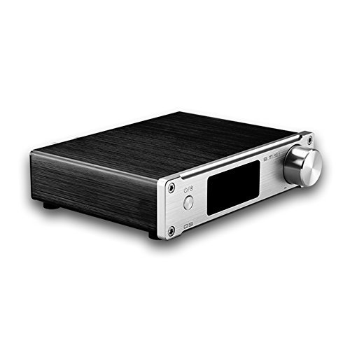 SMSL Q5 Pro HiFi Stereo Audio Digital Amplifier USB Coaxial Optical AUX Input with Remote Control Silver (Certified Refurbished)