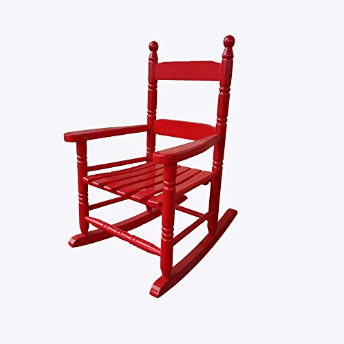 Rocking Rocker - K10RD Red Child's Rocking Chair / porch Rocker - Indoor or Outdoor - Suitable For 1 to 4 Years Old - Rocking Chair Assembled