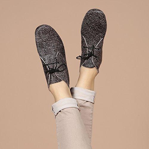 Aspele Womens Hairon Leather Lepoard/Cheetah Print Flat Ankle Chelsea Boots Frog White Black XG4W2FWmF