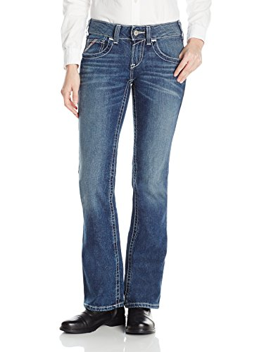 Ariat Women's Flame Resistant Mid Rise Boot Cut Jean, Oceanside Entwined, 28 Regular