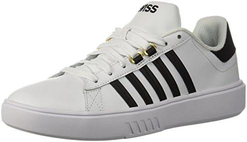 9e82f9f0dfad6 K-Swiss Women's Pershing Court CMF Sneaker, White/Black, 5 M US ...