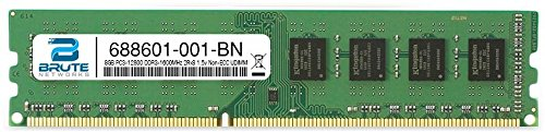 Brute Networks 688601-001-BN - 8GB PC3-12800 DDR3-1600MHz 2Rx8 1.5v Non-ECC UDIMM (Equivalent to OEM PN # 688601-001) by Brute Networks