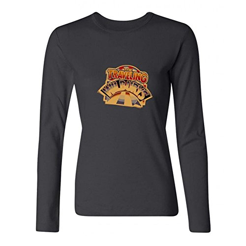 XIULUAN Women's The Traveling Wilburys Band Logo Country Rock Long Sleeve T-shirt Size L ColorName (Shop Apparel Long Sleeve Horns)