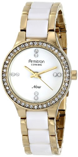 Armitron Women's 75/5210WTGPWT Swarovski Crystal-Accented Watch