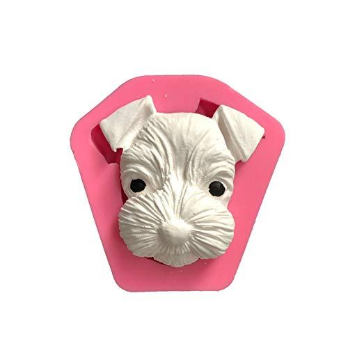 lightclub Animal Dog Shape Car Aroma Plaster Silicone Mold Handmade DIY Soap Mould Tool For Christmas and Halloween Random Color