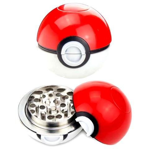 Price comparison product image OliaDesign Pokemon Go Pokeball Weed Tobacco Spice Herb Grinder 3 piece 55mm 2.2 Inch