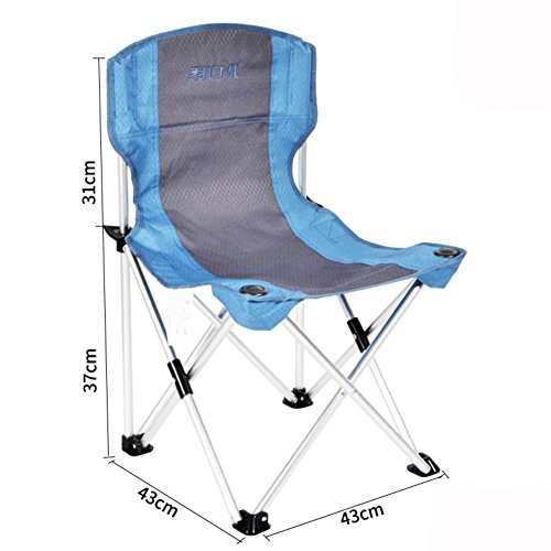 Outdoor folding camping chair, Canvas Recliners American Lounge chair Aluminum Portable Fishing chair Leisure chair Beach chair-B W43xH68cm(17x27inch)