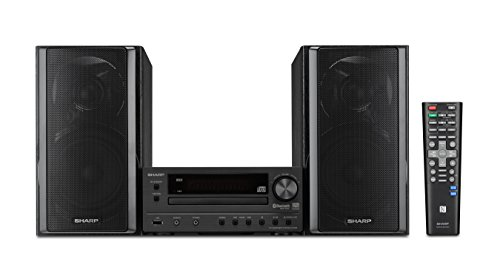 Sharp XL-HF203B Hi-Fi Component Stereo Speaker System with High Resolution Audio (System Stereo Shelf Home)