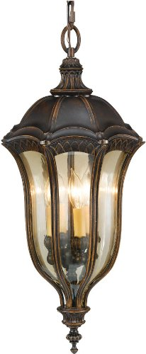 Feiss OL6012WAL Baton Rouge Outdoor Lighting Pendant Lantern, Brown, 4-Light (13