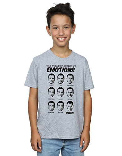 Emotions Camiseta Bang Boy deportiva Big Grey Theory Sheldon qqr48Yn