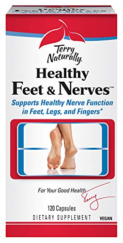 Terry Naturally Healthy Feet & Nerves - Supports Healthy Nerve Function in Feet, Legs, and Fingers - 120 Capsules