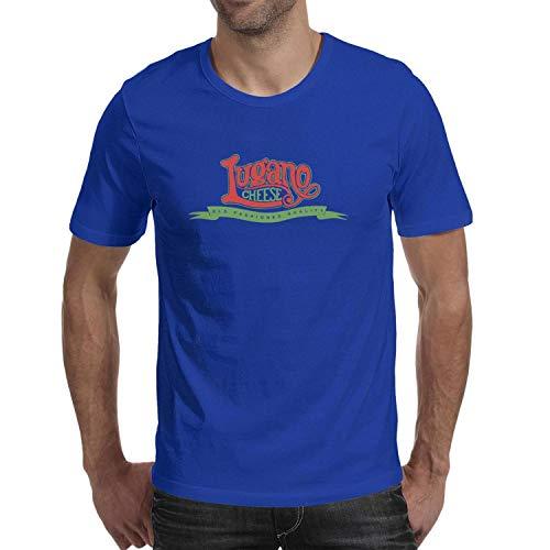 - Unicorns Farting Lugano Cheese Logo Men's Short Sleeve T-Shirt Comfort Striped Casual T-Shirt T Shirts for Men