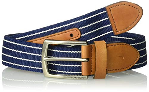 Belt Nautica Casual - Nautica Men's Casual Plaque Belt, Navy, Large (38-40)