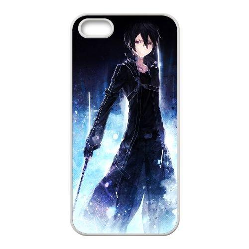 Sword Art Online coque iPhone 4 4s cellulaire cas coque de téléphone cas blanche couverture de téléphone portable EEECBCAAN08172