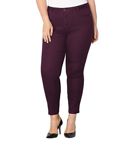 -AVENUE Women's Butter Denim Skinny Jean in Winter Bloom, 18 Plum