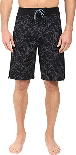 ASICS Men's Boardshorts 10in Black Marble Print Board Shorts MD