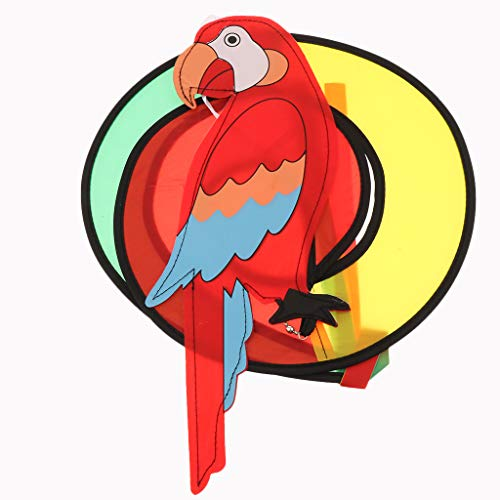 Flameer Sun & Butterfly Shape Windchime Colorful Hanging Garden Yard Decoration - Parrot, as described ()