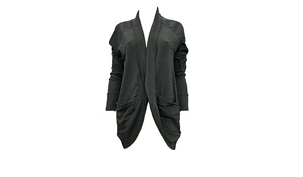 PJ Harlow Women/'s Jasmine Rib Cocoon Jacket With Pockets