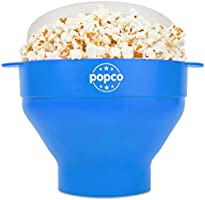 The Original Popco Silicone Microwave Popcorn Popper with Handles, Silicone Popcorn Maker, Collapsible Bowl Bpa Free and...