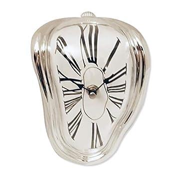 plata que fluye fusión efecto de reloj de Salvador Dali: Amazon.es: Hogar