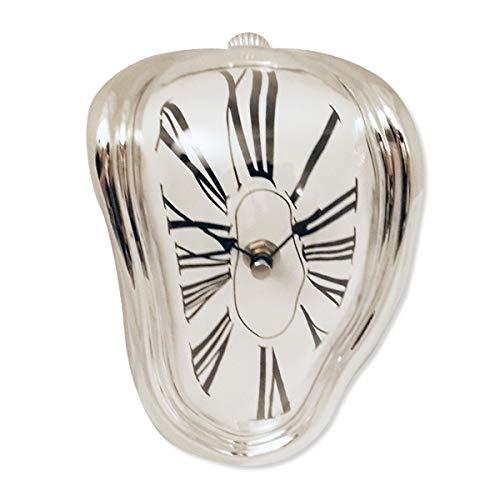 (silver flowing melting clock effect Salvador Dali)