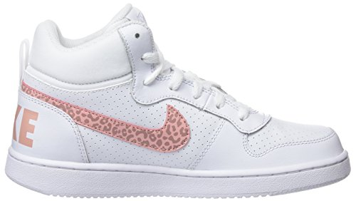 Scarpe 101 rust Borough Da Stardust Ginnastica white Bianco Gg Bambina Court coral Pink Nike Mid 61ITgI