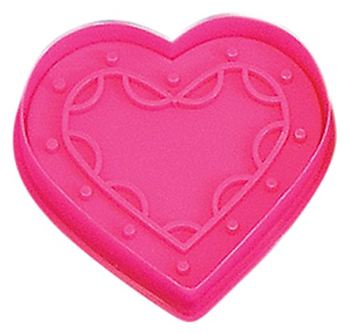 CybrTrayd RM-0405-3LOT R&M Heart 2.75' Cookie Stamper (Set of 3), Pink