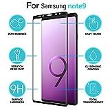 For Smasung Galaxy Note 9 Screen Protector, Iusun 3D Ultra Thin Premium Tempered Glass Screen Protector Film For Samsung Galaxy Note 9 (Clear)