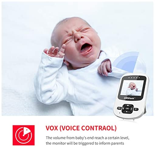 Campark Video Baby Monitor with Camera Digital Cam with Infrared Night Vision 2.4″ LCD 2.4GHz Wireless Transmission Two Way Talk Temperature Sensor VOX Auto Wake-up 4 in 1 Amazon choices [tag]