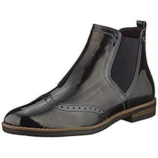 Tamaris Damen 1-1-25313-23 Chelsea Boots, Blau (Navy Patent 826), 38 EU 13