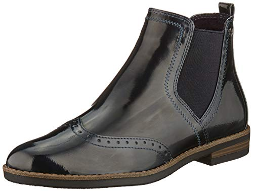 Tamaris Damen 1-1-25313-23 Chelsea Boots, Blau (Navy Patent 826), 38 EU 1