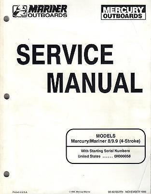 1997 MARINER MERCURY OUTBOARD 8, 9.9 (4-STROKE) SERVICE MANUAL 90-827857R1 (995)