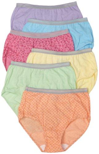 Fruit of the Loom Womens 6-Pack Heather Brief Panties